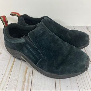 Merrell Boy's Jungle Moc Black Suede Sneakers 7